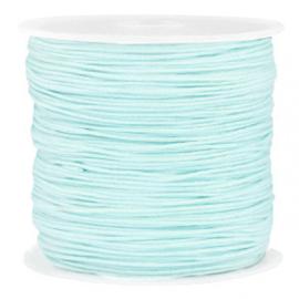 Rol met 90 meter Macramé draad 0.8mm Turquoise blue (kies voor pakketpost)