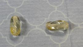 10 x prachtige transparant  glaskraal citroen 13 x  6 mm gat 1 mm
