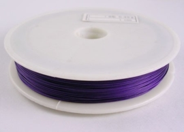 Rijgdraad met coating 0,45 mm x 100 meter donker paars