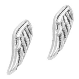 2 x Floating Charms Wings Antiek Zilver 11×3 mm