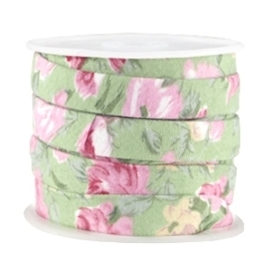 20 cm Trendy plat koord 10mm Soft green - rose