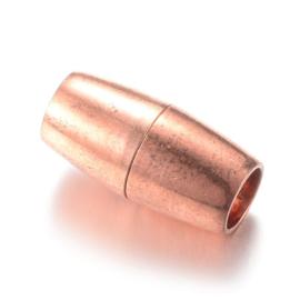 Magneet slotje Rosegold 16 x 8mm  Ø5mm