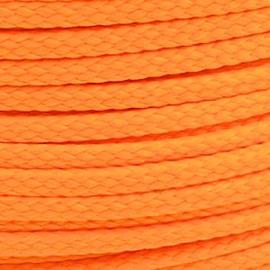 1 meter sieradenkoord c.a. 5 x 3mm kleur Oranje