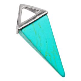 Natuursteen Hanger (37 x 15 mm) Turquoise (1 Stuks)