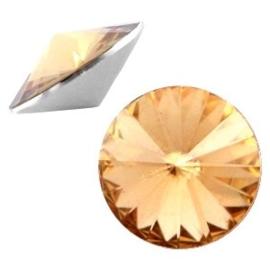 2 x Rivoli 1122 - 12 mm puntsteen Light colorado topaz