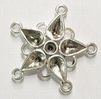 Per stuk Antiek zilveren metalen tussenzetsel 34 mm