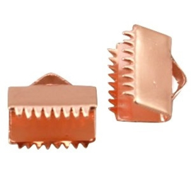 2 x DQ lintklem 10 mm Rose gold plated