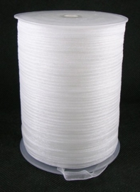 1 meter organza lint 6mm wit
