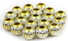 10 x Prachtige aluminium kraal 10mm