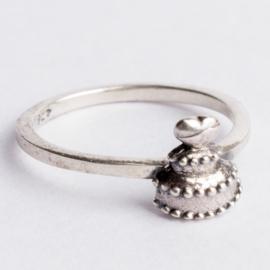 925 zilveren ring zilver Charmins c.a. 26x 7mm ; Ø16mm