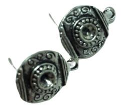 1 paar oorbellen  16 x 12 mm oogje 1,5 mm
