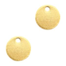 5 x Bedels DQ metaal rond 8mm Goud