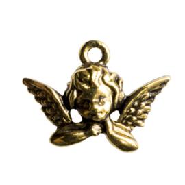 4 x mooie tibetaans zilveren Engel 19x16 x 3mm gat 2mm goudkleur