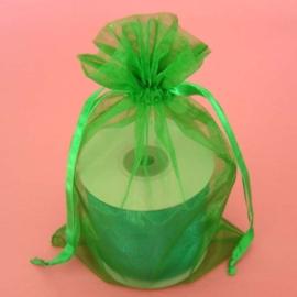 1 x luxe organza zakje, kies uit 6 verschillende maten - Emerald