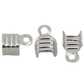 10 x DQ veterklemmen 4 mm Silver plated