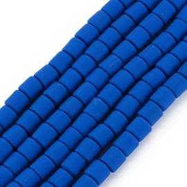 40 x handgemaakte polymeer klei kralen blue 6,5 x 6mm gat: 1,2mm