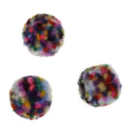 5 x Pompom bedel maat 20 mm zonder oogje