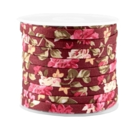 40 cm Trendy plat koord 5mm Aubergine red - rose