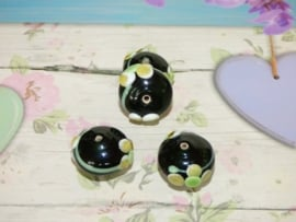 5 x High Quality Glass Hand Made Bead 116 afm. ca. 11 x 20mm