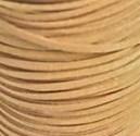 Faux suède veter, zandkleur 1 meter x 3mm.