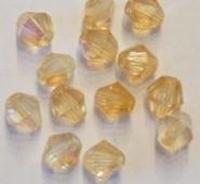 Per stuk Glaskraal kristal facet konisch Zalm AB 8 mm