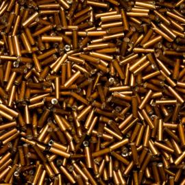 20 gram Bugles bruin -goud  6mm