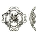 2 x  mooie grote Tibetaans zilveren kralenkap 30x 30 x 10mm Gat: 2mm