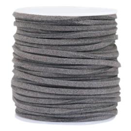 3 meter Imi suède 3mm Dark grey