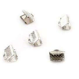 5x Veter Lint Klemmetje 7,5 x 8 mm Zilver