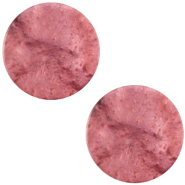 1 x Polaris cabochon plat 20mm Mosso shiny Antique pink