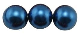 40 x prachtige glasparel kleur: Steel Blue 6mm