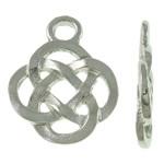 2 x tibetaans zilveren Keltisch symbool bedel 18 x 23,5 x 2,5mm Gat: 3,5mm