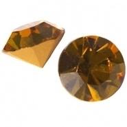 5 x Puntsteen Preciosa voor Puntsteen SS39 Setting c.a. 7/8mm Amber