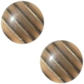 3 x Cabochon Polaris Koron 20 mm Bruin