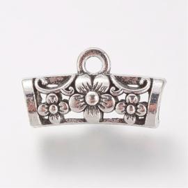 Prachtige bali style Tibetaans zilveren bails 10,5 x 19 x 7mm Gat: mm & 4,5mm