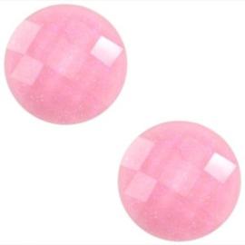 2 x Basic cabochon 10mm Pink glitter