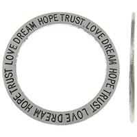 2 x mooie grote gesloten  ring  Love dream hope trust 35 x 1 gat 27mm