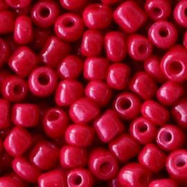 20 gram Glaskralen Rocailles 6/0 (4mm) Rumba red