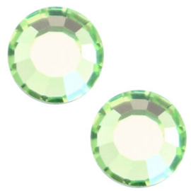 10 x Swarovski lichtgroen plat strass steentje 5mm