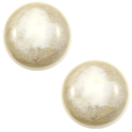 1 x 12 mm classic cabochon Polaris Elements Stardust Cream white