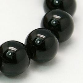10 x  Kraal van  Mashan Jade Zwart 6mm