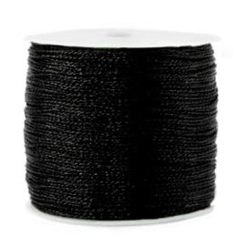 1 rol 170 meter macramé draad metallic 0.5mm Black (kies voor pakketpost)