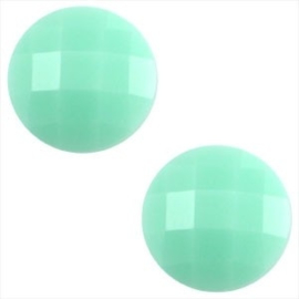 2 x Basic cabochon 10mm Mint groen
