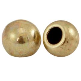 1 stuks DQ metaal eindkap bol Ø2.7mm Antiek brons (nikkelvrij)