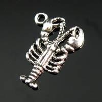 5x Tibetaans zilveren bedeltje Schorpioen 15×22mm