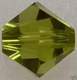 10 x Preciosa Kristal Bicone kraal 8 mm Moss