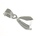 1 verzilverde hanger, verbinder, bails 4,2 x 14mm x 18mm gat: 6,5 x 4,5
