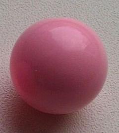10 Stuks Acrylkralen rosé 18 mm, gat 2 mm
