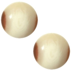 1 x Cabochon Polaris Jaquard 12 mm Light hay beige