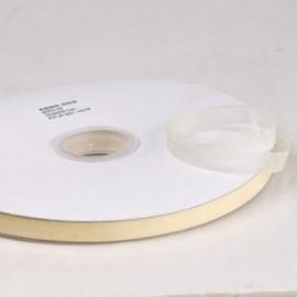 2 meter Organza lint 10mm breed per meter, creme